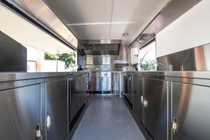 An inside view of the kitchen