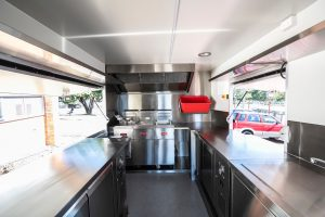 Inside the Twist Chips truck kitchen