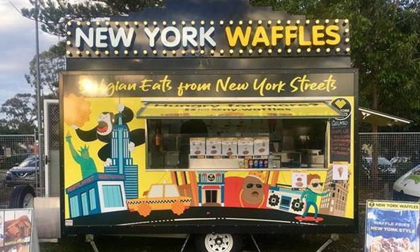custom built waffle truck