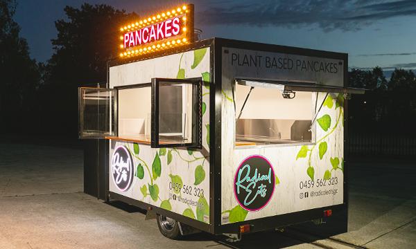 Radical Eats food trailer.